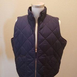 JCrew Navy Puffer Vest New Size 3X